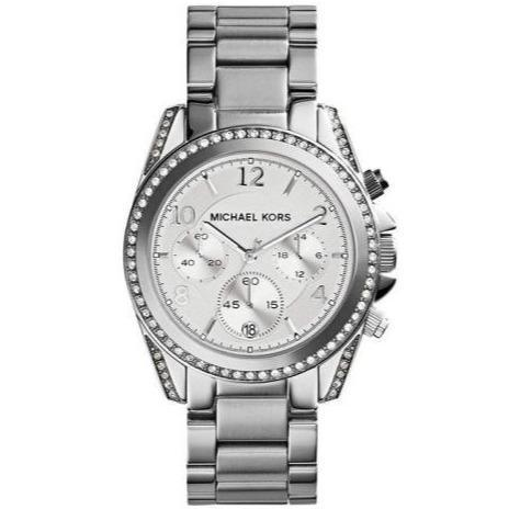 Michael Kors MK5165 Ladies Blair Silver Chronograph Watch