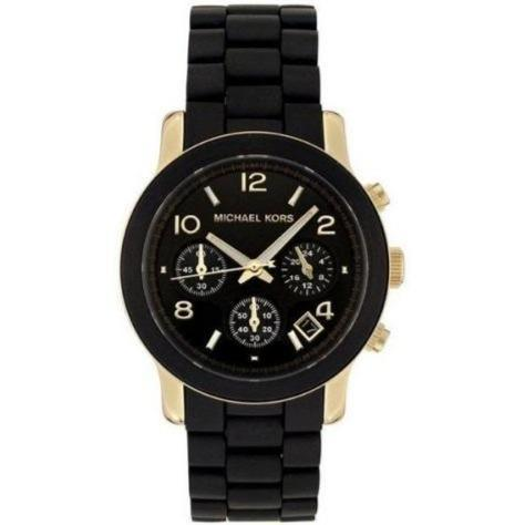 Michael Kors MK5191 Ladies Runway Black & Gold Chronograph Watch