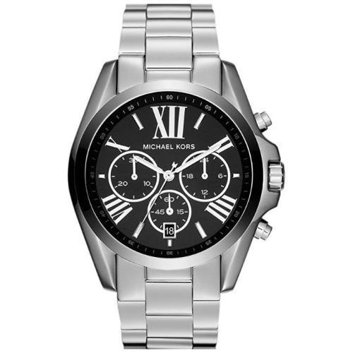 Michael Kors MK5705  Unisex Bradshaw Silver/Black Stainless Steel Chronograph Watch