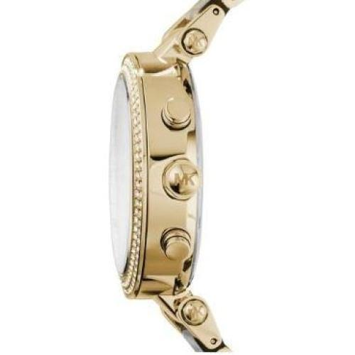 Michael Kors MK6313 Ladies Parker Crystal 'MK' Gold & White Watch