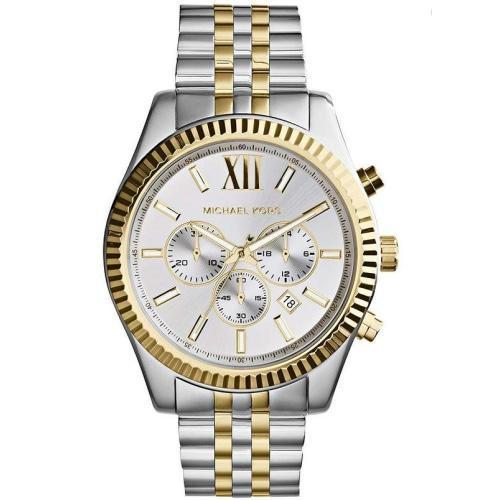 Michael Kors MK8344 Mens Lexington Two-toned Chronograph Watch