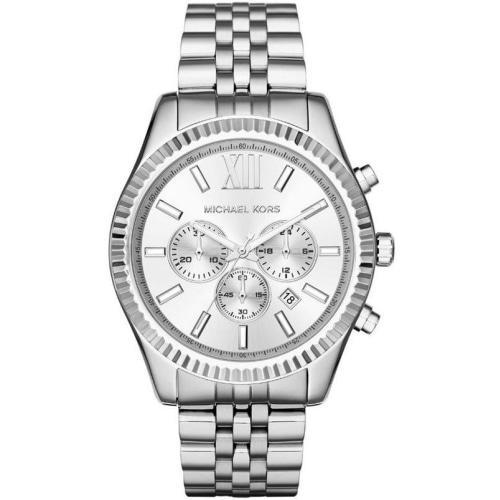 Michael Kors MK8405 Mens Lexington Silver Chronograph Watch