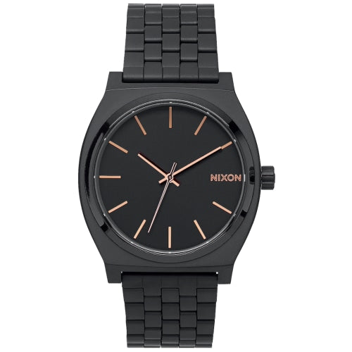 Nixon A045-957-00 Unisex Time Teller Black/Rose Gold Stainless Watch