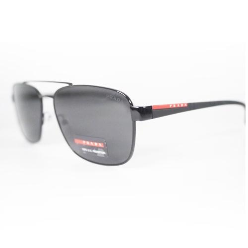 PRADA 0PS51US-1AB5S0 Mens Lifestyle Sports Sunglasses Black/Grey lens - Sunglasses