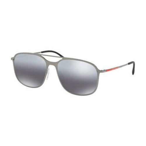 PRADA Lifestyle 0PS53TS Men's Linea Rossa Pilot Gunmetal/Grey Sunglasses - Sunglasses