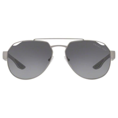 PRADA OPS57US Men's Lifestyle Sports Pilot Grey Metal/Rubber Sunglasses - Sunglasses