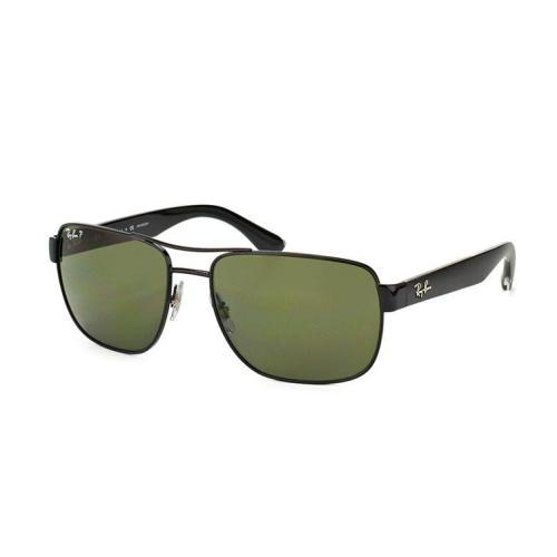 Ray-Ban RB3530 Classic Square Black/Green Polarized Sunglasses - Sunglasses