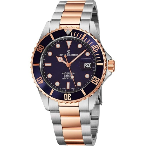 Revue Thommen 17571.2155  Men's Diver Two-Tone/Blue Automatic Swiss Watch
