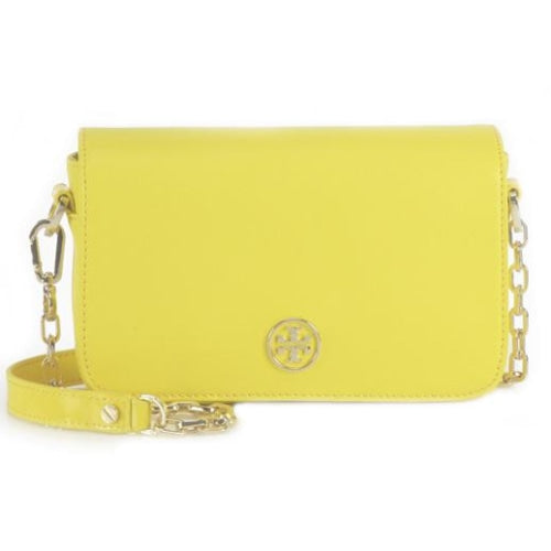 Tory Burch (67303) Thea Crossbody Bag Ladies. Leather (Daylily) - BAGS