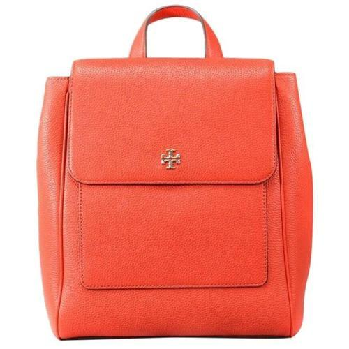 Tory Burch (67320) Carter Flap Backpack Bag Ladies Leather (Poppy Red) - BAGS