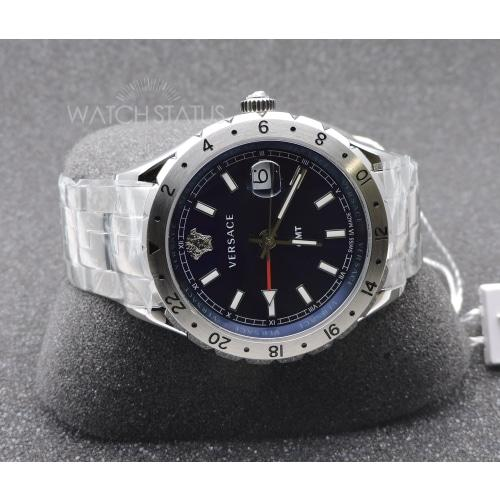 Versace V1101.0015 Mens Hellenyium GMT Blue Dial Swiss Watch