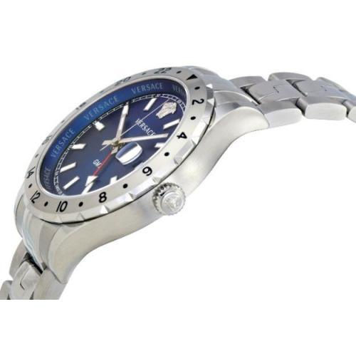 Versace V1101/0015 Mens Hellenyium GMT Blue Dial Swiss Watch