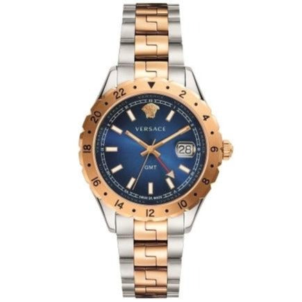 Versace V1106 0017 Mens Hellenyium GMT Two-tone/Blue Swiss Watch
