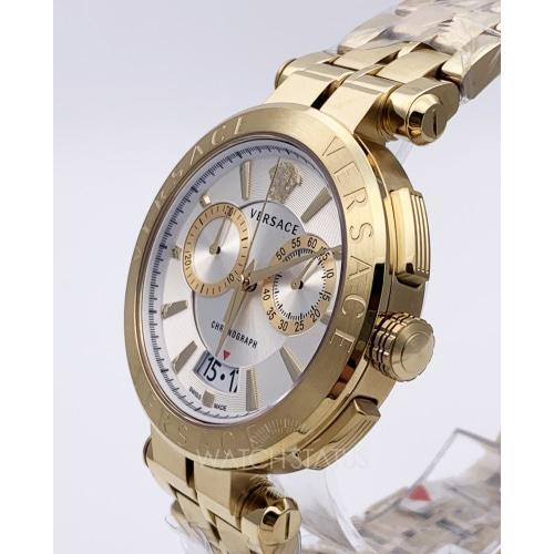 Versace VE1D004/19 Mens Aion Gold & Silver Dial Chronograph Swiss Watch