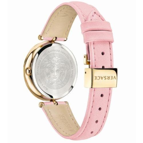 Versace VECQ005 18 Ladies Palazzo Pink Leather Gold Medusa Watch