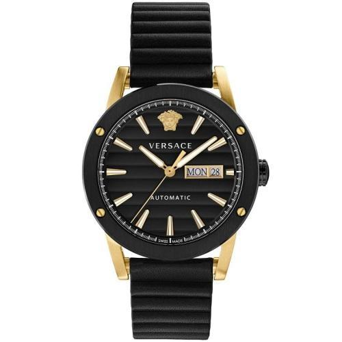 Versace VEDX004/19 Mens Theros Black & Gold Leather Automatic Swiss Watch
