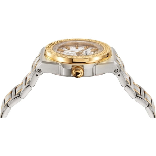 Versace VEHD004 20  Unisex Chain Reaction Gold & Silver Swiss Watch