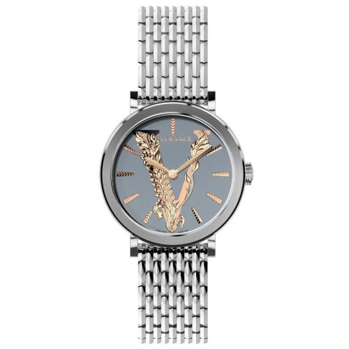 Versace VERI006 20 Ladies Virtus Silver/Rose-gold Stainless Swiss Watch