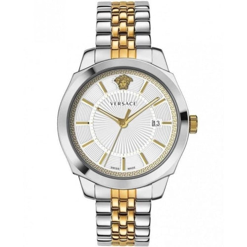 Versace VEV9004 19 Mens Icon Classic Silver/Gold Stainless Swiss Watch - WATCHES