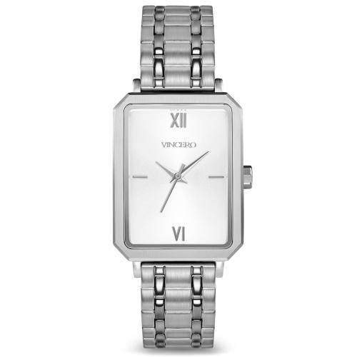 Ava Ladies Silver Stainless Steel White Dial Watch