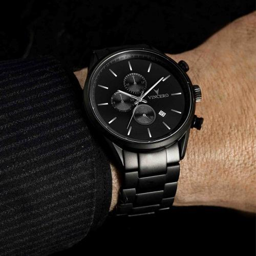 Chrono S Matte Black Stainless Steel Chronograph Watch