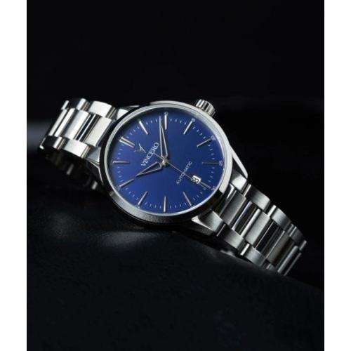 Vincero Icon Automatic  Mens Silver Stainless Steel Blue Dial Watch