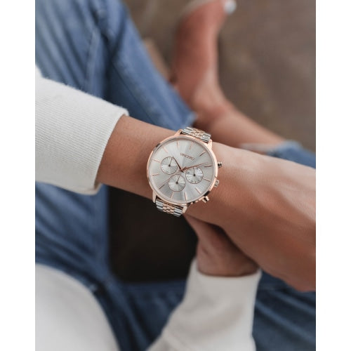 Vincero Kleio  Ladies Rose Gold/Silver Chronograph Mesh Watch