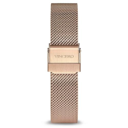 Marble Ladies Italian Marble Dial Rose Gold Mesh Watch