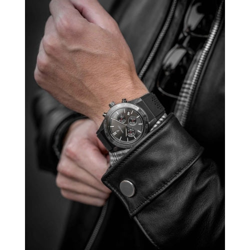 Vincero Rogue Mens Black Silicone Sapphire Chronograph Watch