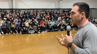 Justin Posey Visits Schools with USA BMX Foundation