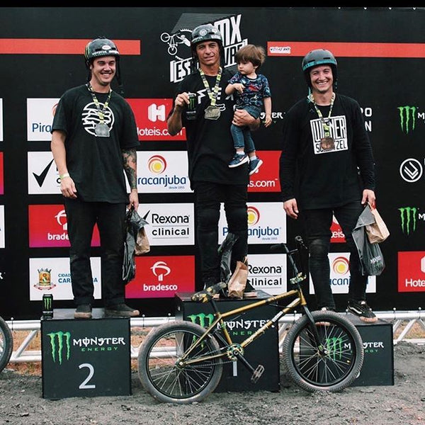 Pat Casey on the podium in Brazil