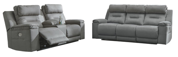 Trampton Signature Design Contemporary 2-Piece Living Room Set