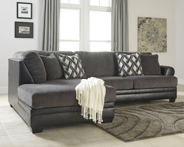 Kumasi Benchcraft 2-Piece Sectional with Chaise
