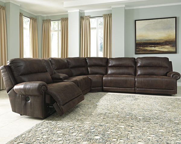 Luttrell Benchcraft 6-Piece Reclining Sectional
