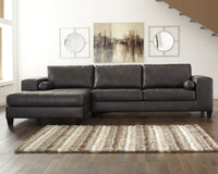 Nokomis Signature Design by Ashley 2-Piece Sectional with Chaise