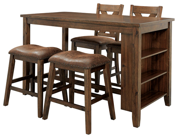 Chaleny Benchcraft Counter Height 5-Piece Dining Room Set