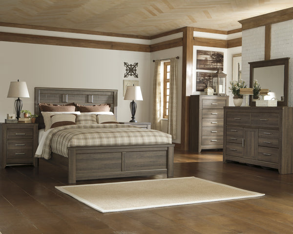 Juararo Panel Bed Signature Design 5-Piece Bedroom Set
