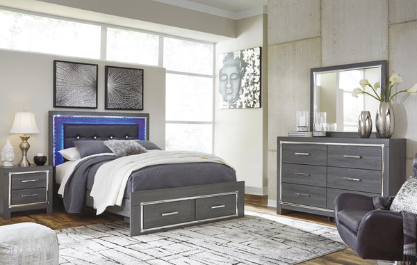 Lodanna Signature Design 5-Piece Bedroom Set with 2 Storage Drawers