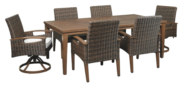 Paradise Trail Signature Design 7-Piece Outdoor Dining Set