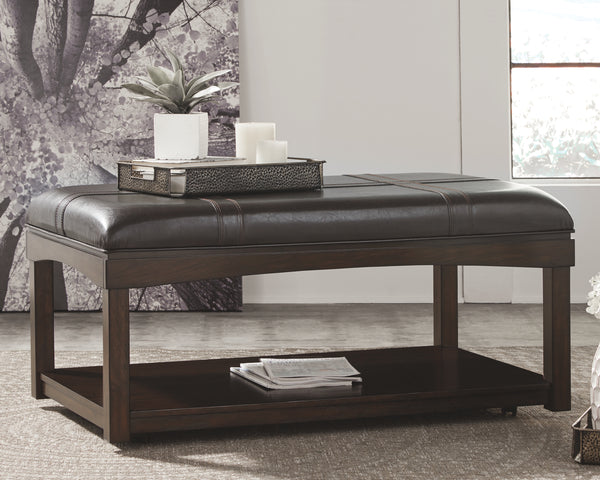 Haddigan Signature Design by Ashley Cocktail Table Ottoman