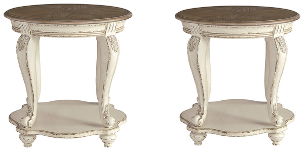 Realyn Signature Design 2-Piece End Table Set