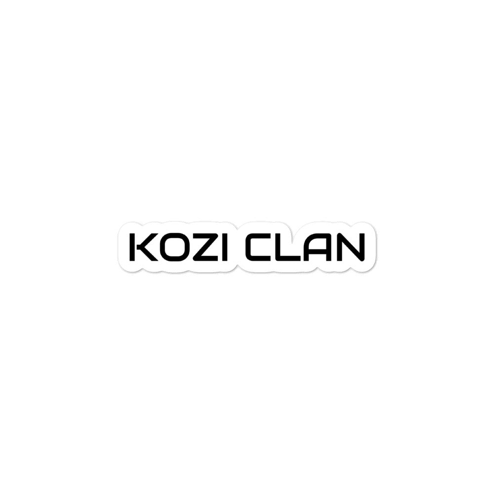 Kozi Clan 3x3 Sticker