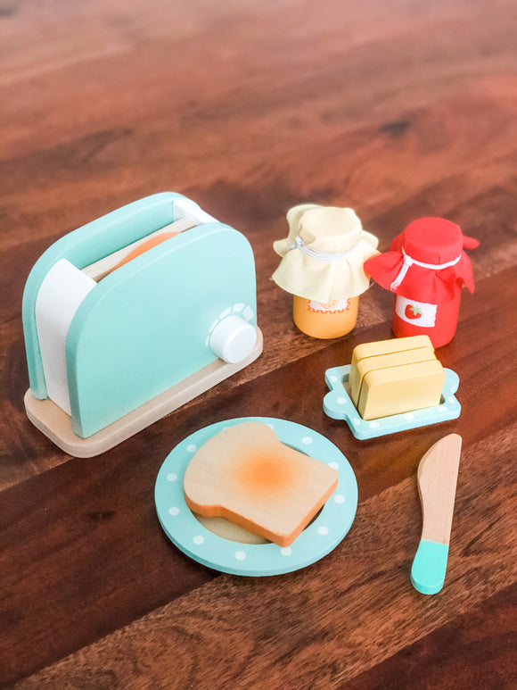 Wooden Toaster Toy Set