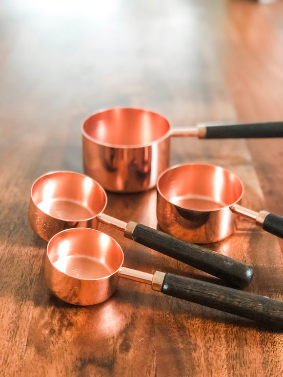 Copper Measuring Cups - Set of 4