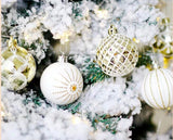 Christmas Ornaments - Gold Frost (30 balls)