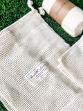 Reusable Produce Organic Cotton Mesh Bags - Set of 4