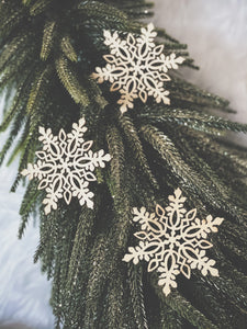 Wooden Snowflake - Set of 10
