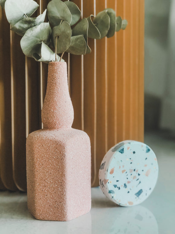 Summer Speckled Vase in Strawberry Lemonade