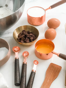 Copper Measuring Spoons - Set of 4