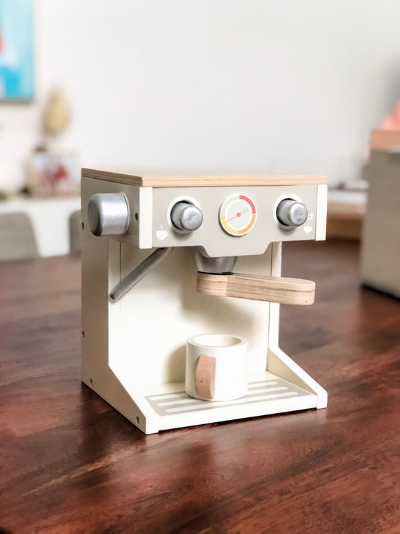 Coffee Machine Wooden Toy Set